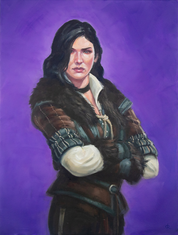 Yennefer of Vengerberg from The Witcher series fantasy oil painting
