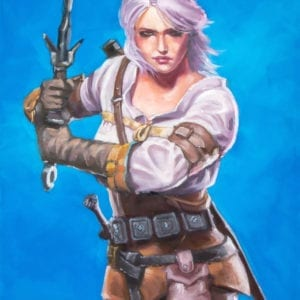 Ciri of Cintra from The Witcher series fantasy oil painting